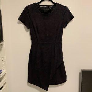 AQUA Faux-Suede Dress